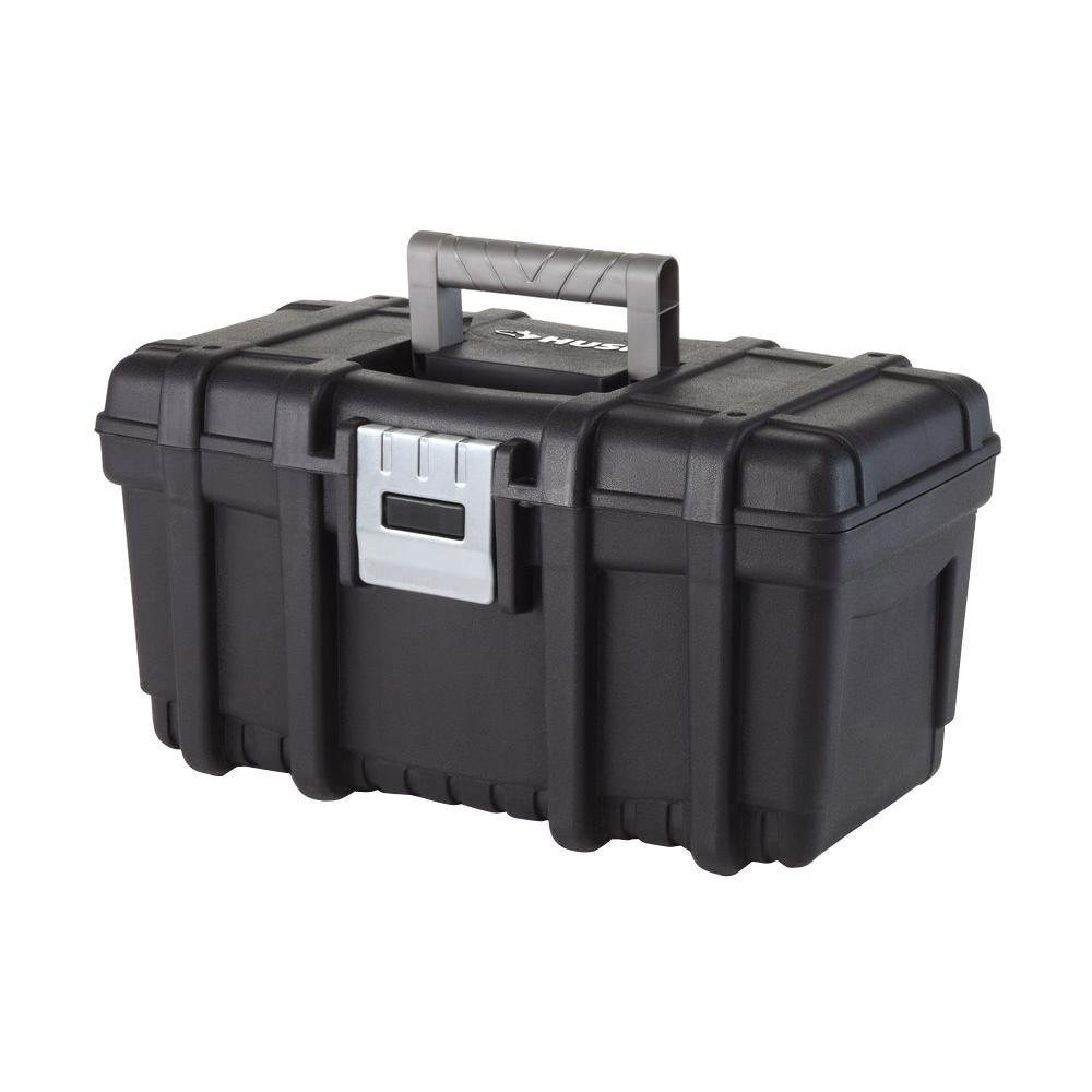 Husky 16-Inch Rugged Hand Tool Box with Metal Latch