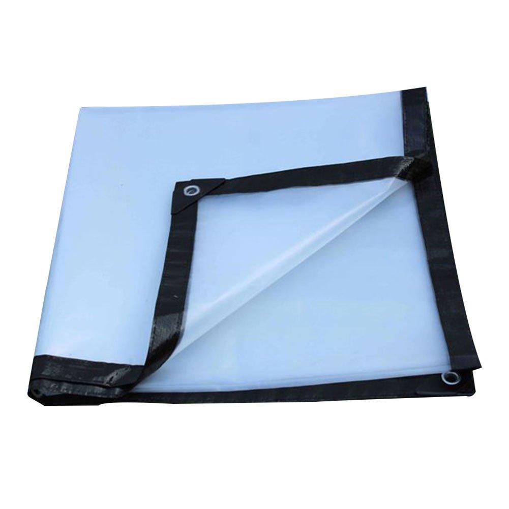 GLJ Paño Impermeable A Prueba Lluvia De Lluvia Prueba De La Lona Transparente Paño Grueso Y Suave De La Tela del Toldo De La Lluvia del Paño Plástico Lona alquitranada (Color : Transparente, Tamaño : 2x1m) 4752cd