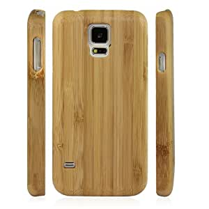 LeexGroup® NEW Luxury Fashion Brown Bamboo Wood Wooden Hard Shell Case Cover For Samsung Galaxy S5 i9600 (Brown + Bamboo)