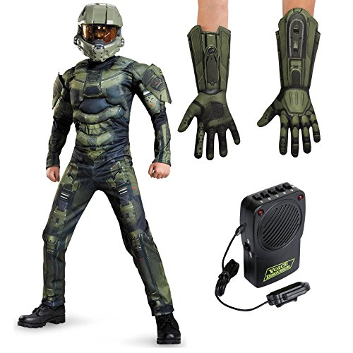 Halo: Master Chief Muscle Child S Costume Bundle Set (Halo Costume Child)