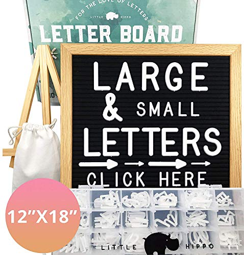 Letter Board 12x18 | +690 PRECUT Letters +Stand +Sorting Tray | (Black) Letter Board with Letters, Letters Board, Letter Boards, Felt Letter Boards, letterboard, Word Board, Message Board, Letter Sign (Tone Upholstery)