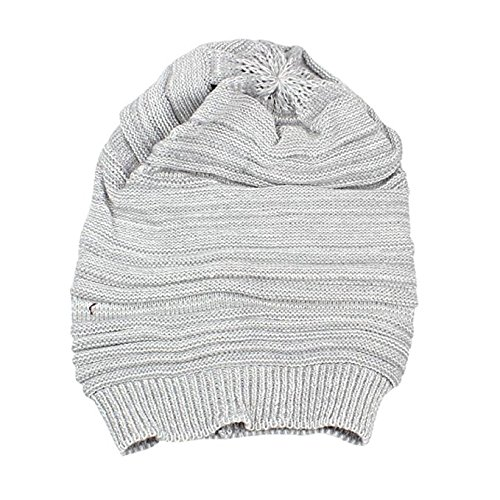 Knitting Hat Hot Sale New Fashion Hat Christmas Gift Unisex Men Knit Baggy Beanie Beret Winter Warm Oversized Ski Cap Hat by Neartime (free, Grey)]()