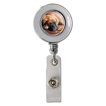 Boxer Dog Breed Heart Lanyard Retractable Reel Badge ID Card Holder