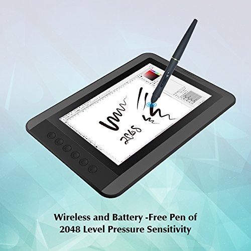 PNBOO PN10 10.1 Inch IPS Graphics Drawing Monitor with Battery-free Passive Pen(Black) by PNBOO (Image #4)