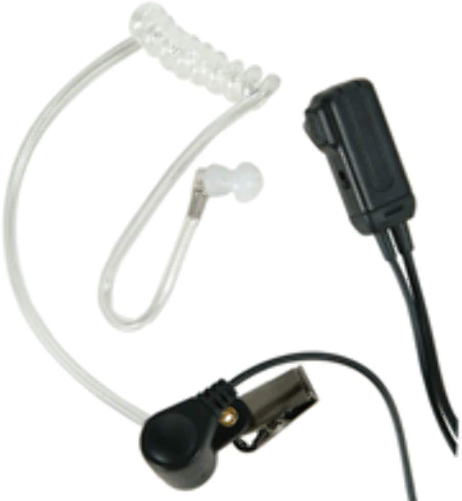 Midland AVPH3 Transparent Security Headsets with PTT/VOX - Pair,Black