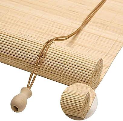 Persianas de bambú Persianas Enrollables para Exteriores de 80cm/ 100cm/ 120cm/ 140cm de Ancho - Jardín Patio Gazebo Pergola Carport Sombra Enrollable (Size : 140×170cm(W×H)): Amazon.es: Hogar