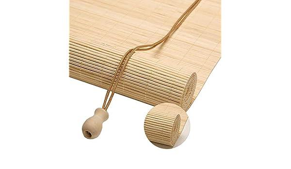 Persianas de bambú Persianas Enrollables para Exteriores de 80cm ...