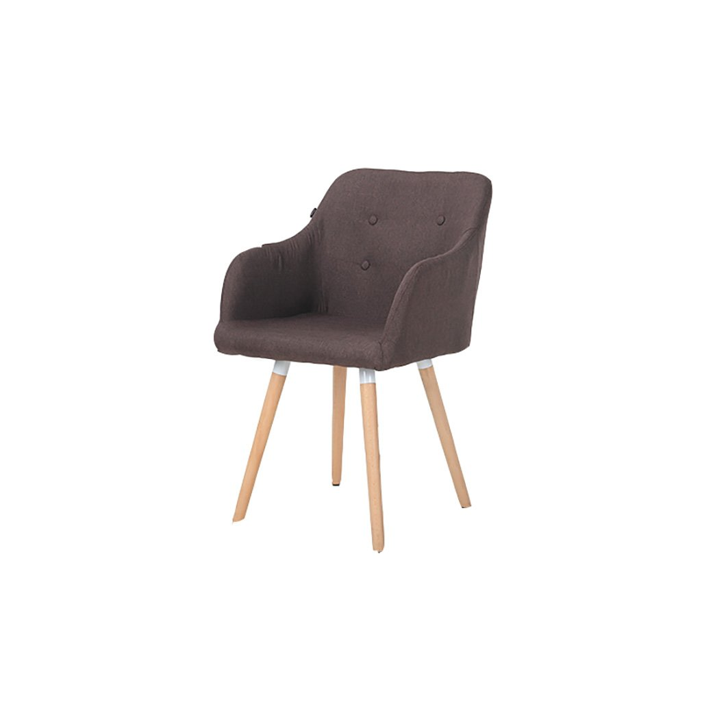 H CAOYUSmall stool Armchairs Solid wood dining chair European style lounge chair Modern minimalist fabric restaurant chair Back Desk Chair (color   C)