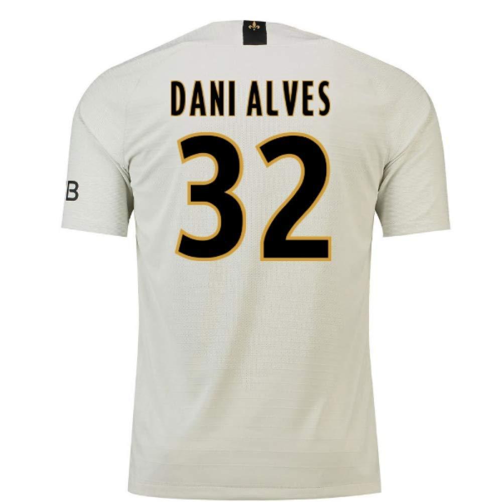 【大放出セール】 2018-19 Psg Away Chest Football Shirt (Dani Alves 32) (Dani B07H9RN3JV 32) Large 42-44