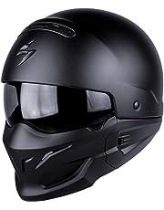 Scorpion - Casco para moto Exo-Combat, negro mate, XL