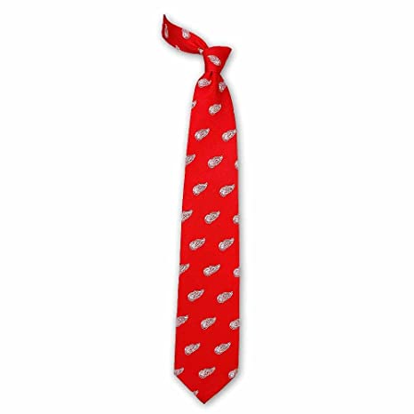 Amazon Detroit Red Wings Logo Neck Tie Red Sports Outdoors