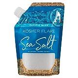 SaltWorks Pacific Blue, Kosher Flake Sea Salt, Pour Spout Pouch, 8 Ounce
