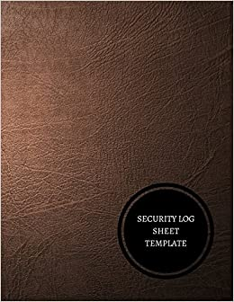 amazon security log sheet template visitor log journals for all