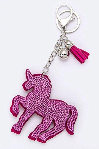 Karmas Canvas Crystal Unicorn Soft Key Charm (Old Trifari Costume Jewelry)