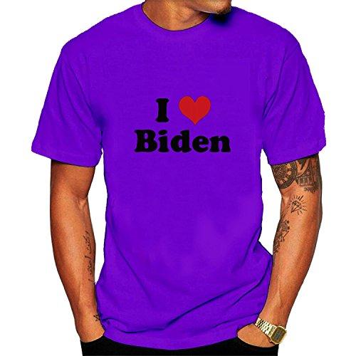 I Love Biden T-shirt S Purple for Men