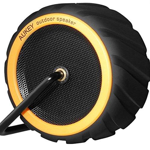 AUKEY Mini Bocina Bluetooth con altavoz contra Agua en forma de rueda (amarillo)