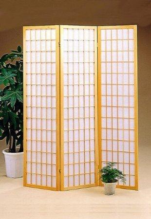 - Legacy Decor 3-panel Room Screen Divider - Natural