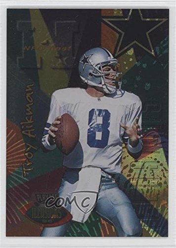Troy Aikman (Football Card) 1996 Playoff Illusions - [Base] - Spectralusion Dominion - Playoff Card 1996
