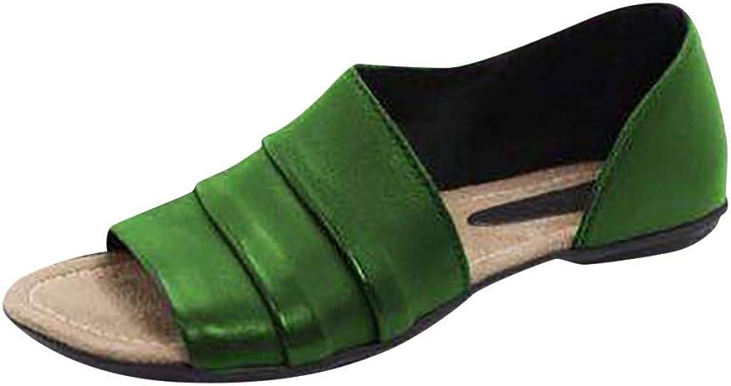 Vectry para Mujer Moda Pisos Boca Baja Peep Toe Zapatos Casuales De Playa Sandalias Romanas 2019 Verano Nuevos Zapatos De Mujer