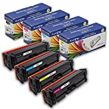 PrintOxe Compatible Set for 202X High Yield of 202A Black CF500X, Cyan 501X, Yellow CF502X & Magenta CF503X for HP Color Laserjet Pro M254 M254dw M254nw and MFP M281cdw M281fdn M281fdw M280 M280nw