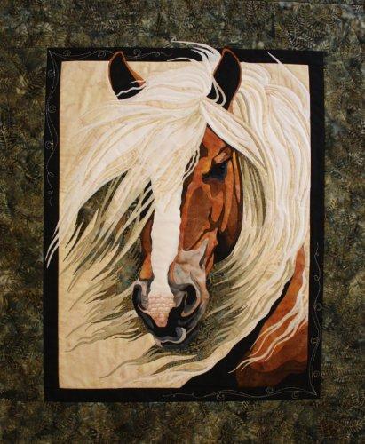 (Mistral Horse Toni Whitney Designs Applique Quilt)