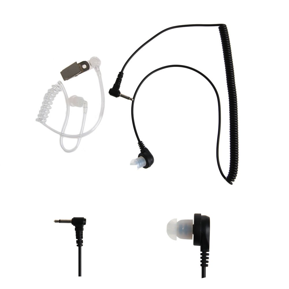 Kocome 3.5MM Plug Port Listen Only Headset Earpiece Single Earphone Clear Acoustic Tube by Kocome (Image #2)