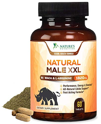 Natural Male XXL Pills - Enlargement Booster Increases Energy, Mood & Endurance - Natural Size, Stamina & Strength Booster - Best Performance Supplement for Men - 1 Month Supply - 60 Capsules (Best Over The Counter Male Performance Enhancer)