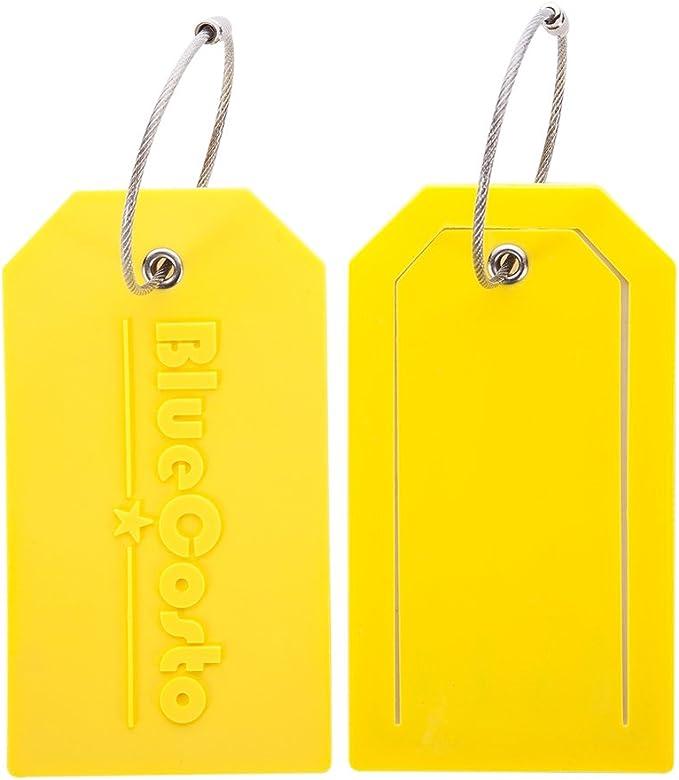 Rucksack und Gep/äck Herren und Damen Blau 7er-Pack TravelMore PU-Leder-Gep/äckanh/änger f/ür Koffer mit Sichtschutz Taschen Reise-Kofferanh/änger mit Adressschild f/ür Koffer