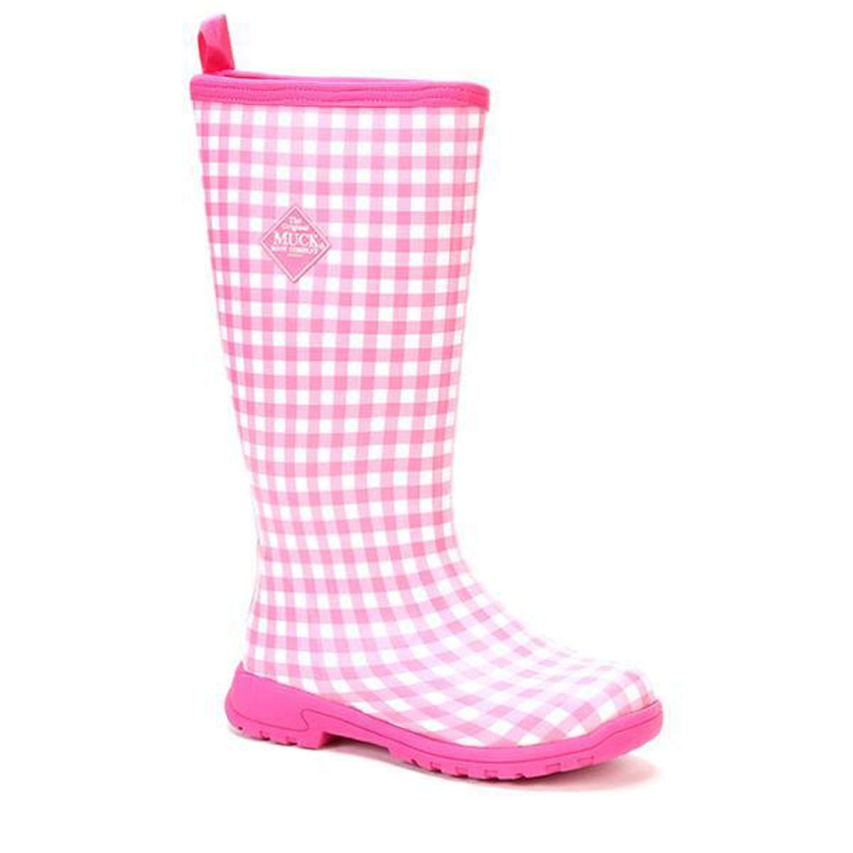 Muck Boot Women's Breezy Tall Pink Gingham Size 5 Insulated Rainboot by Muck Boot