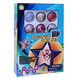 Here Shine FUN 3D BODY ART Original Glitter Tattoo Kit with 6 Colors of Glitters & 24 Stencils for Temporary Tattoos, 5+
