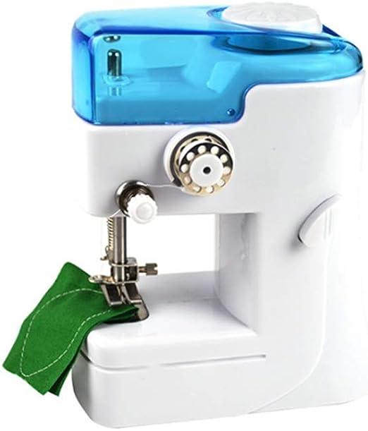 GSKTY Máquina de coser Miniatura máquina de coser mini eléctrica de sobremesa 12.5 * 7 * 15. 5 cm: Amazon.es: Hogar