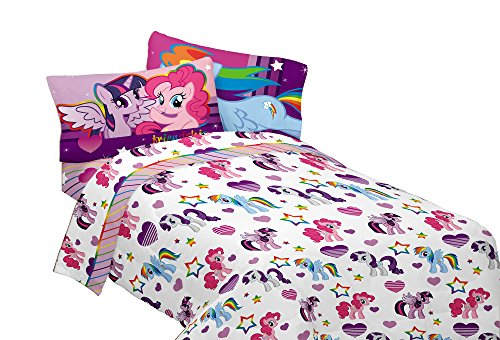 Hasbro MA4398 My Little Pony Ponyfied Twin Sheet Set (Girl Twin Bed Sheets)
