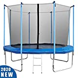 BestMassage Trampoline 12FT Round Jumping Table with Safety Enclosure Net Sping Pad Combo Bounding Bed Trampoline Fitness Equipment