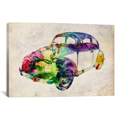 iCanvasART VW Beetle 'Urban' Canvas Art Print by Michael Thompsett, 18 by ()