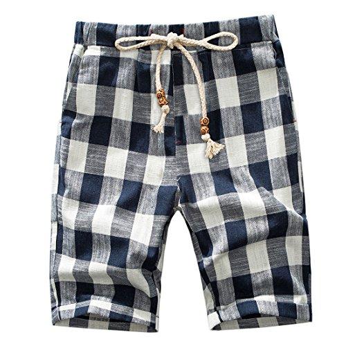 Linen Striped Drawstring Pants - 4