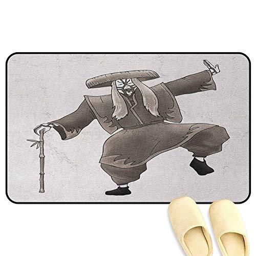 Dr Jones Dance Costumes - Kabuki Mask Non-Slip Standing Mat Oriental