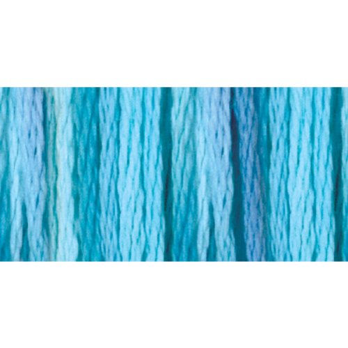 DMC 417F-4020 Color Variations Six Strand Embroidery Floss, 8.7-Yard, Tropical Waters