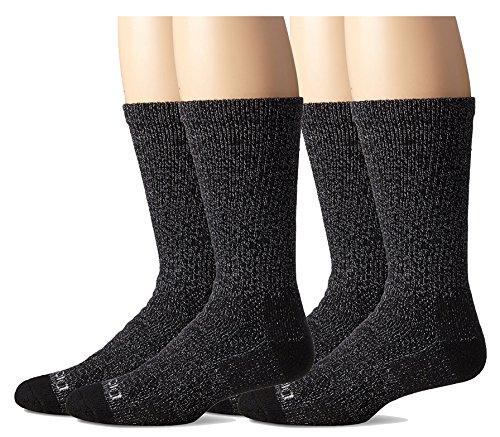 Steel Toe Socks - Dickies Men's Steel Toe Moisture Control Crew Socks, Black, 4 Pair