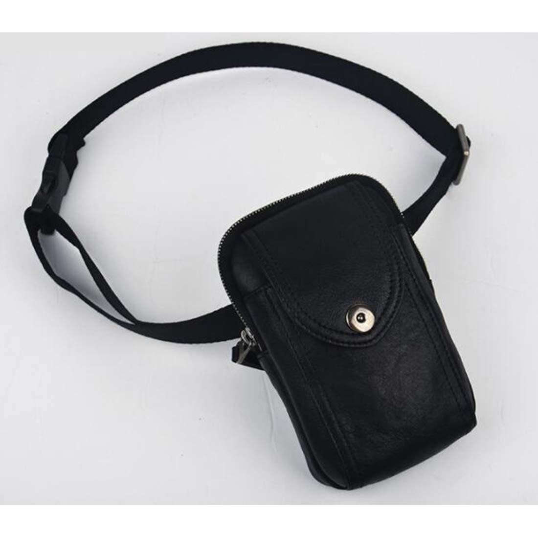 KERVINFENDRIYUN YY3 Gürteltasche West Pouch Body Bag Handytasche für Männer Multifunktions-Echtleder