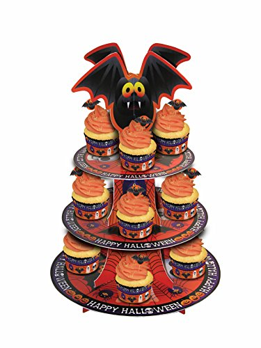 Forum Novelties Happy Halloween Cupcake Stand, Orange