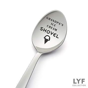 Grandpas Ice Cream Shovel Spoon Best Grandpa Gift From