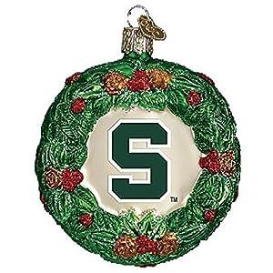 Old World Christmas Michigan State Wreath Christmas Ornament 85