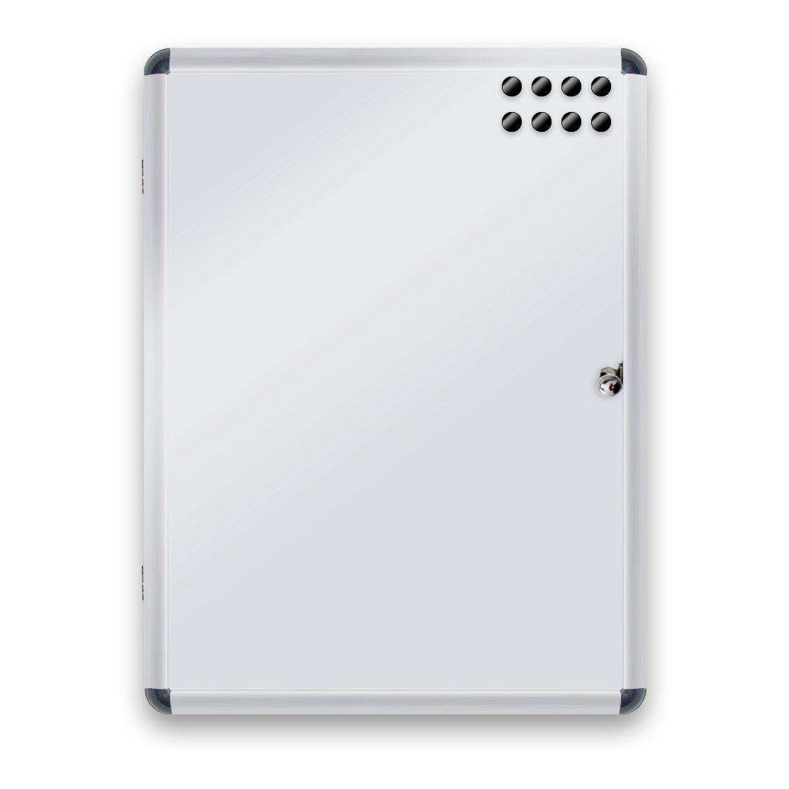 Master of Boards Bacheca con chiave Magnetica e Scrivibile | Da interno | | Cancellabile a secco | Linea Premium | 6 misure disponibili | 37 x 48 cm (2x A4)