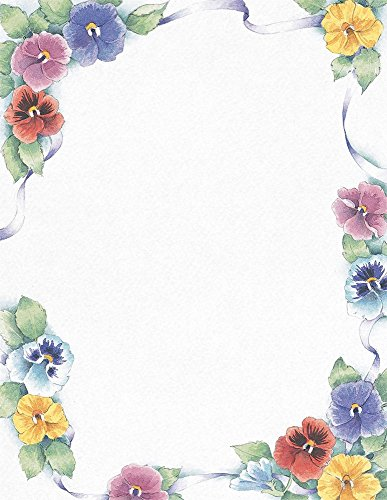 Great Papers! Pretty Pansies Letterhead, 80 Count, 8.5