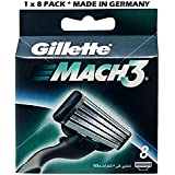 Gillette Mach 3-8 Count (1 x 8 Pack)