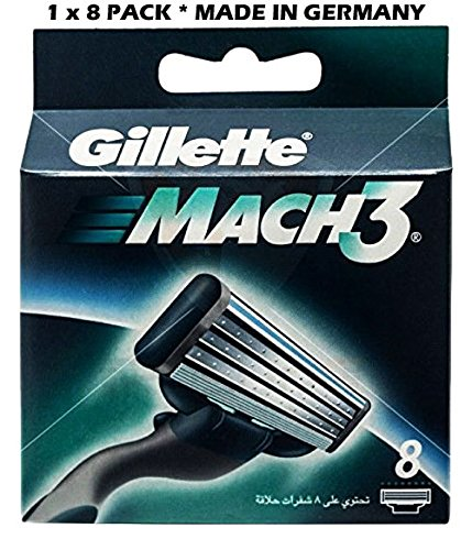 Gillette Mach 3 - 8 Count (1 x 8 Pack)