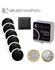 VeloChampion Lightweight Bike Puncture Repair Glueless Self-Adhesive Patches Kit - Available in 6 or 10 Pack