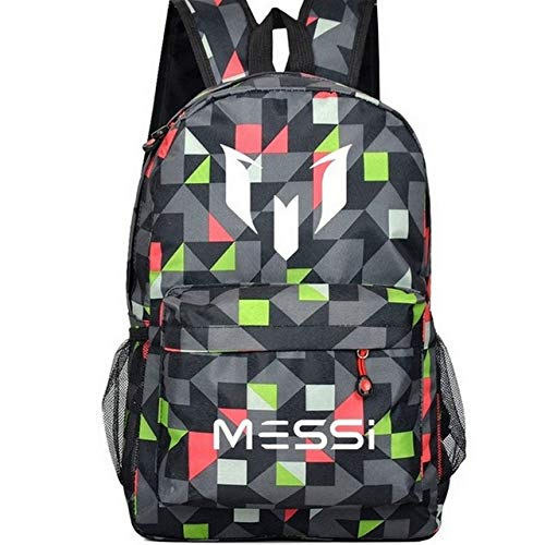 Lattice 2 QWKZH Backpacks Teenagers school bags for boys Messi Teen bookbag Backpack men back pack Male bag Kids Gift Bagpack book bag boys black rucksack