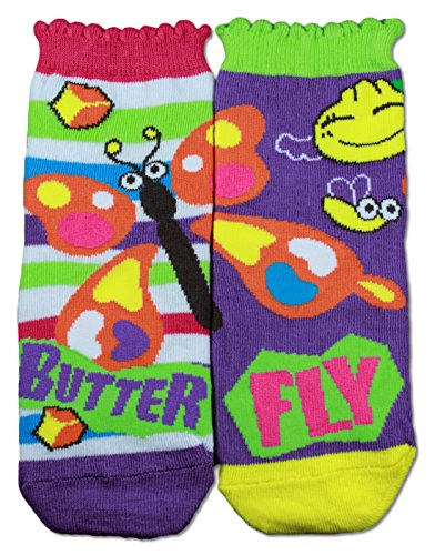 Gama Family Word Learning Unisex Children Socks - Teach Compound Word Butterfly ()
