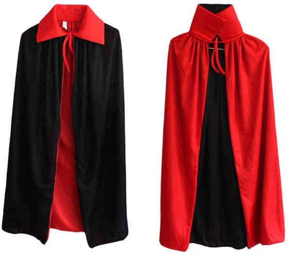 BulzEU - Disfraz Reversible de Halloween, Color Negro, Rojo, para ...